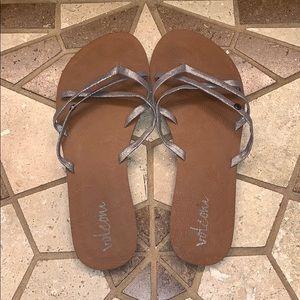 Women's Volcom New School Strappy Sandals Size 9